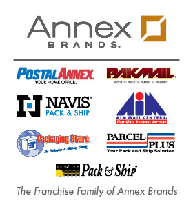 Annex Brands - the Franchise Family of Brands - PostalAnnex, Pak Mail, Navis, The Packaging Store, AIM Mail Centers, Sunshine Pack & Ship